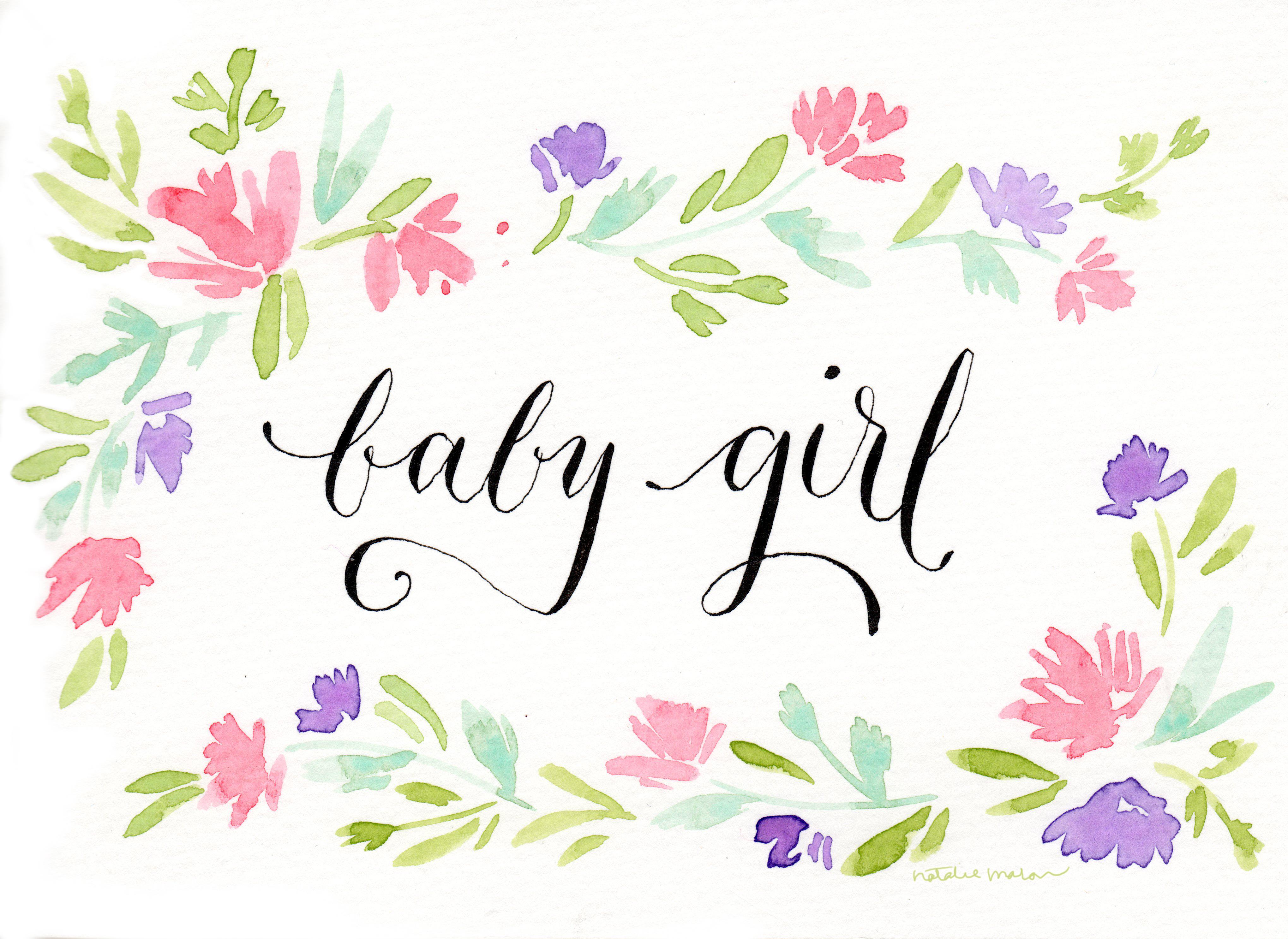 Nataliemalan Its A Baby Girl Free Printable Natalie Malan