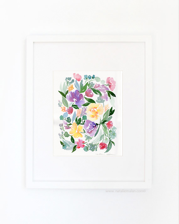 watercolor floral prints now in the shop natalie malan